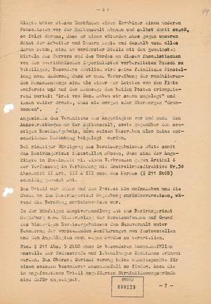 Aufhebung des ersten Urteils gegen Ernst Jennrich