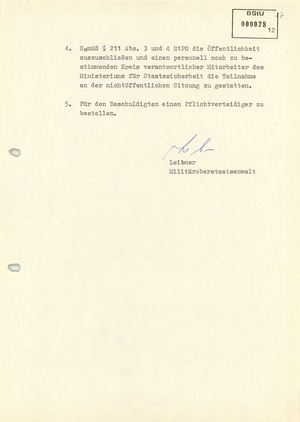 Anklageschrift gegen Werner Teske vom 6. Mai 1981