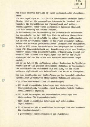 Ausfertigung des Urteils im Fall Werner Teske vom 12. Juni 1981