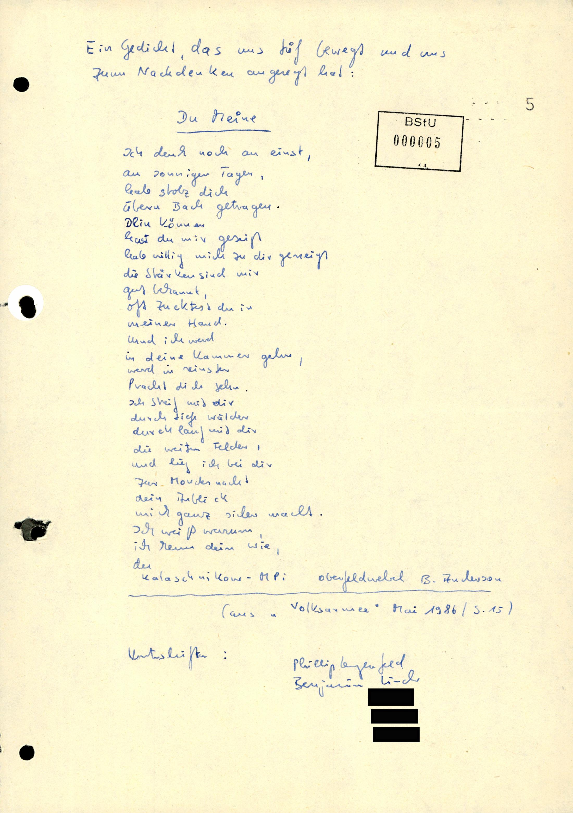 Gedicht Eines Soldaten Der Nationalen Volksarmee Nva Am