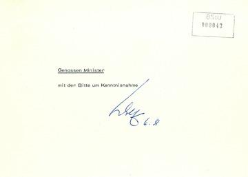 Bericht über die Einreise Horst Mahlers in die DDR