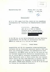 Bericht über die Festnahme Hans-Jürgen Bäckers auf dem Ost-Berliner Flughafen Schönefeld