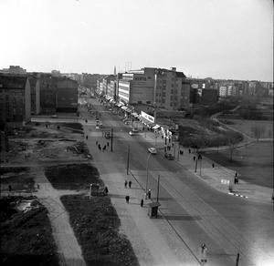 Fotodokumentation der Grenzanlage an der Chausseestraße, Ecke Liesenstraße nach dem Mauerbau