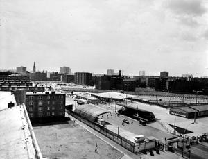 Grenzübergang an der Heinrich-Heine-Straße in Ost-Berlin nach dem Mauerbau