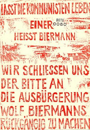 """Flugblatt """"Lasst die Kommunisten leben"""""""
