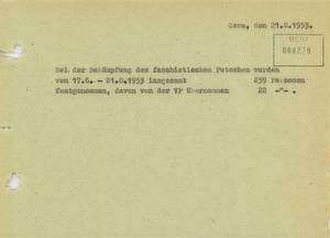Volksaufstand und Sturm auf die MfS-Kreisdienststelle in Jena