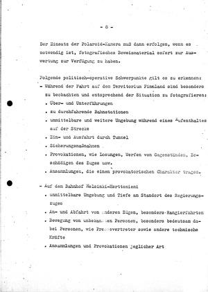 """""""Einweisungskonzeption"""" für MfS-Mitarbeiter bei der KSZE-Konferenz in Helsinki"""