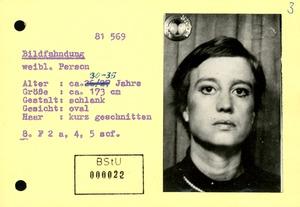 Bildfahndung zu Ulrike Meinhof