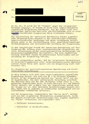 """Abschlussbericht zum Operativen Vorgang """"Tramper"""""""