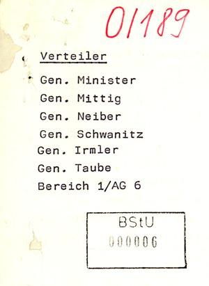 Weitere Hinweise zur Reaktion der DDR-Bevölkerung auf den Honecker-Besuch in der BRD