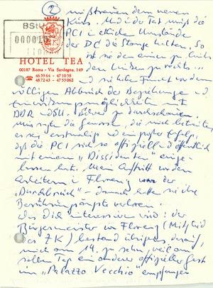 Brief von Wolf Biermann an Robert Havemann