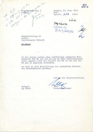 Information über Mitarbeiter der 66. MIund derUS ASAin Süddeutschland