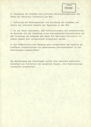 """""""Entscheidungen zur Auflösung des Amtes für Nationale Sicherheit"""""""